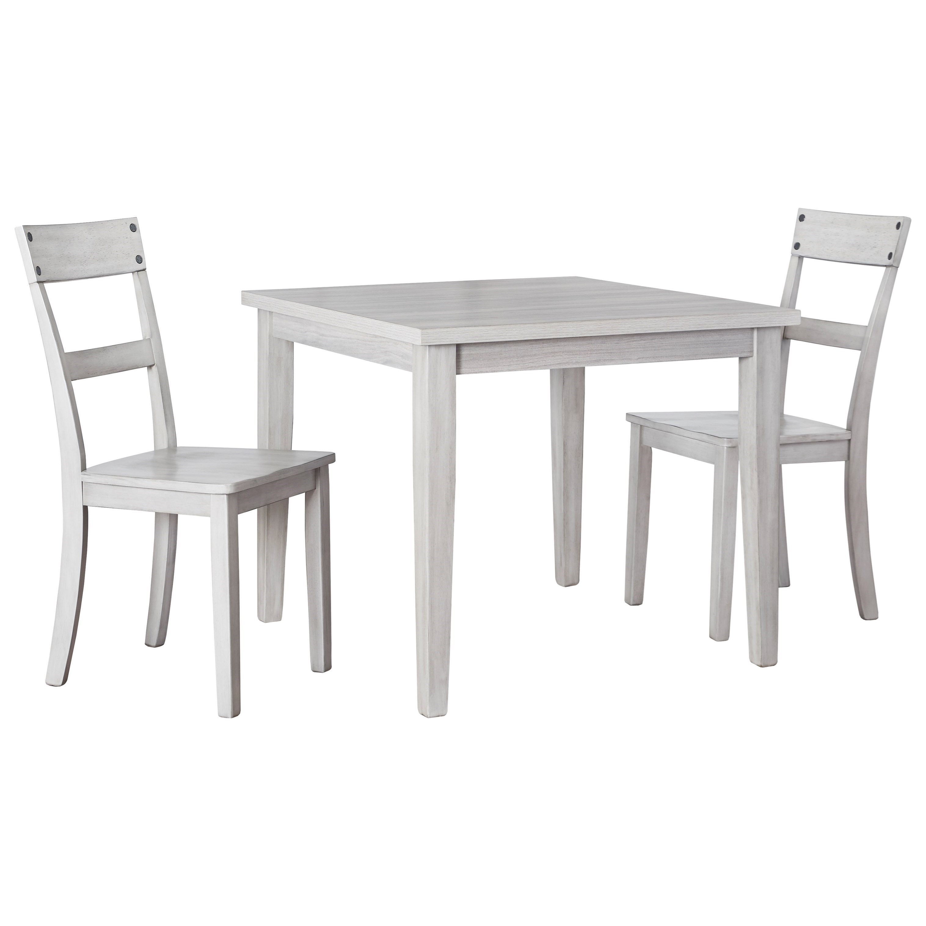 Loratti 3-Piece Square Dining Table Set by Ashley (Signature Design) at Johnny Janosik