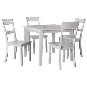 5-Piece Square Dining Table Set