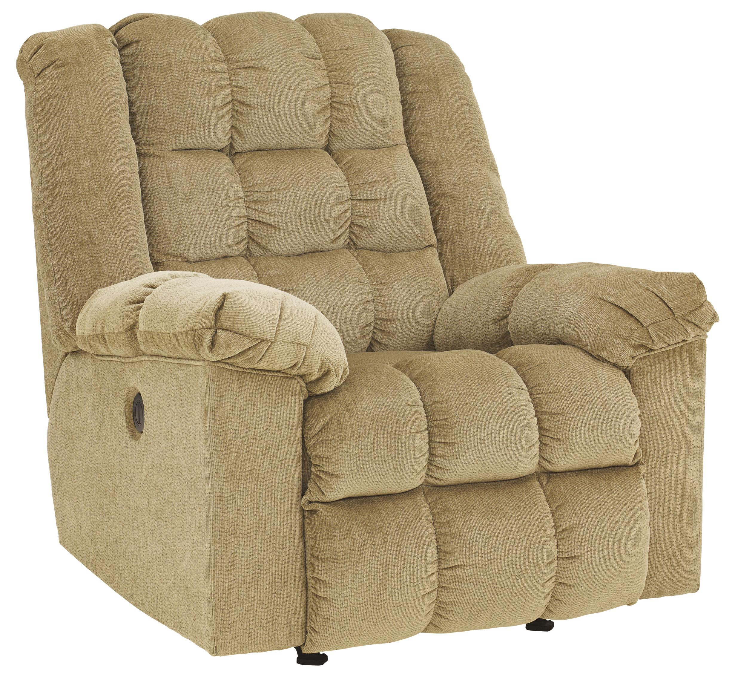 Ludden - Sand Power Rocker Recliner by Ashley (Signature Design) at Johnny Janosik