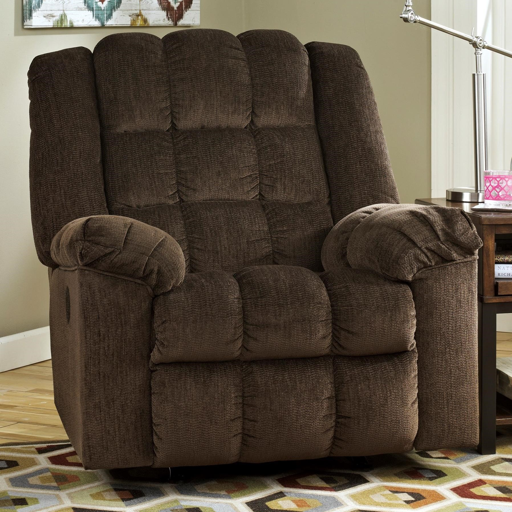 Ludden - Cocoa Power Rocker Recliner by Signature Design by Ashley at Household Furniture