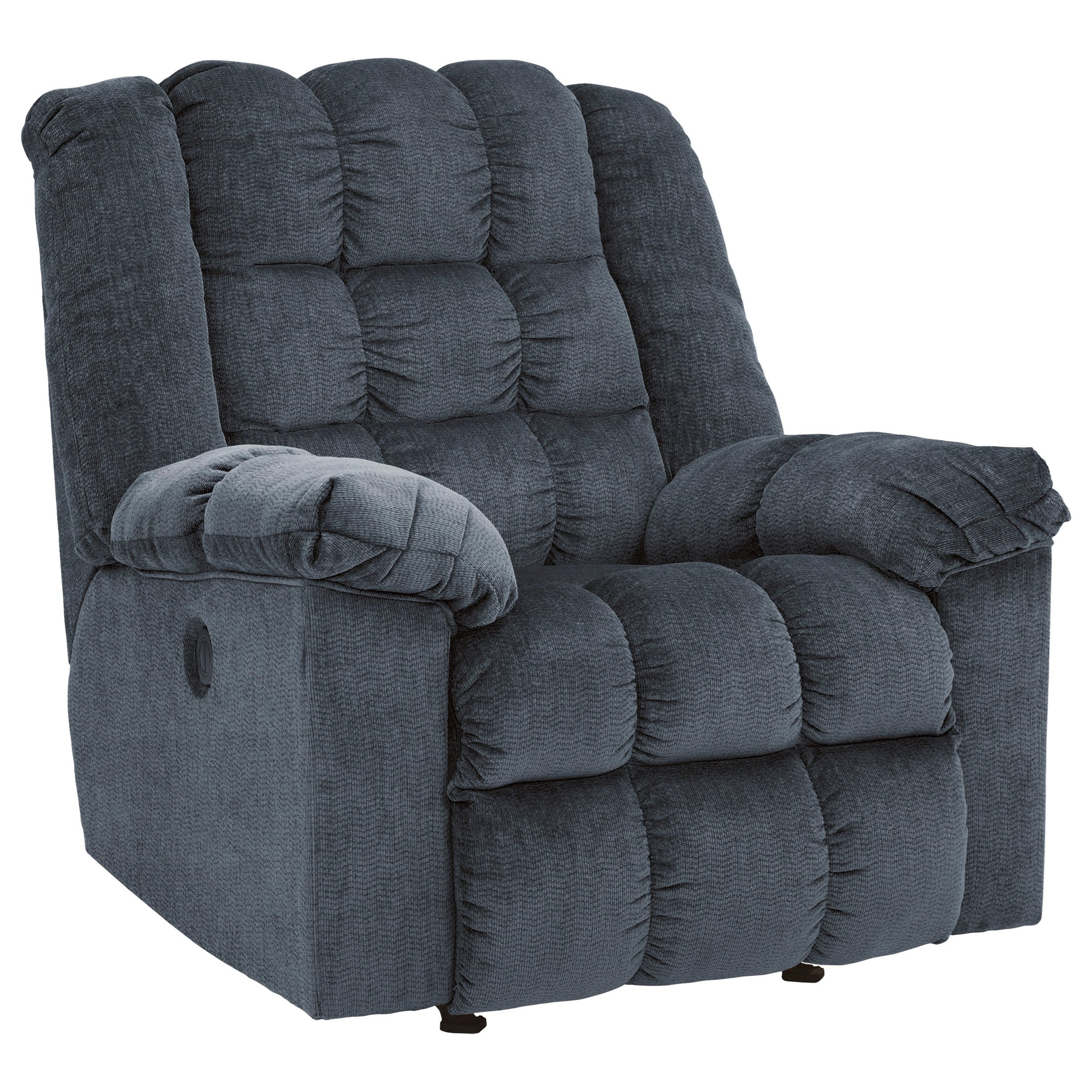 Ludden - Blue Power Rocker Recliner by Signature Design by Ashley at Lapeer Furniture & Mattress Center