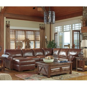 Signature Design by Ashley Lugoro 4-Piece Sectional with Right Chaise