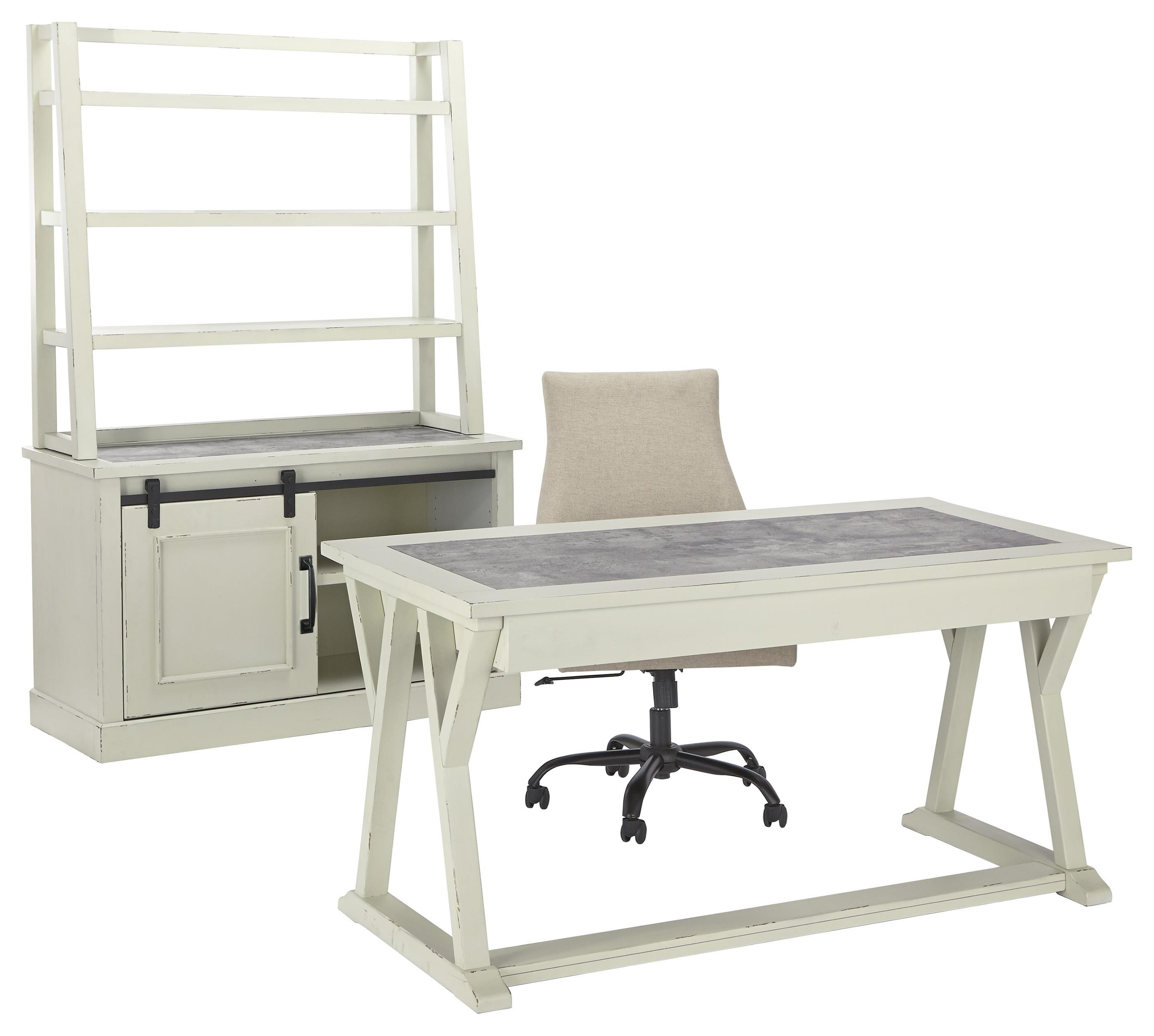 Jonileene Home Office Desk, Chair, Cabinet and Hutch S by Signature Design by Ashley at Sam Levitz Outlet