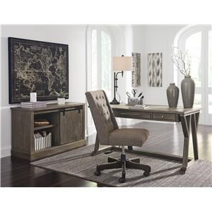Home Office Desk, Office Swivel Chair and Cradenza Set