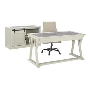 Home Office Desk Office Chair and Cabinet Set