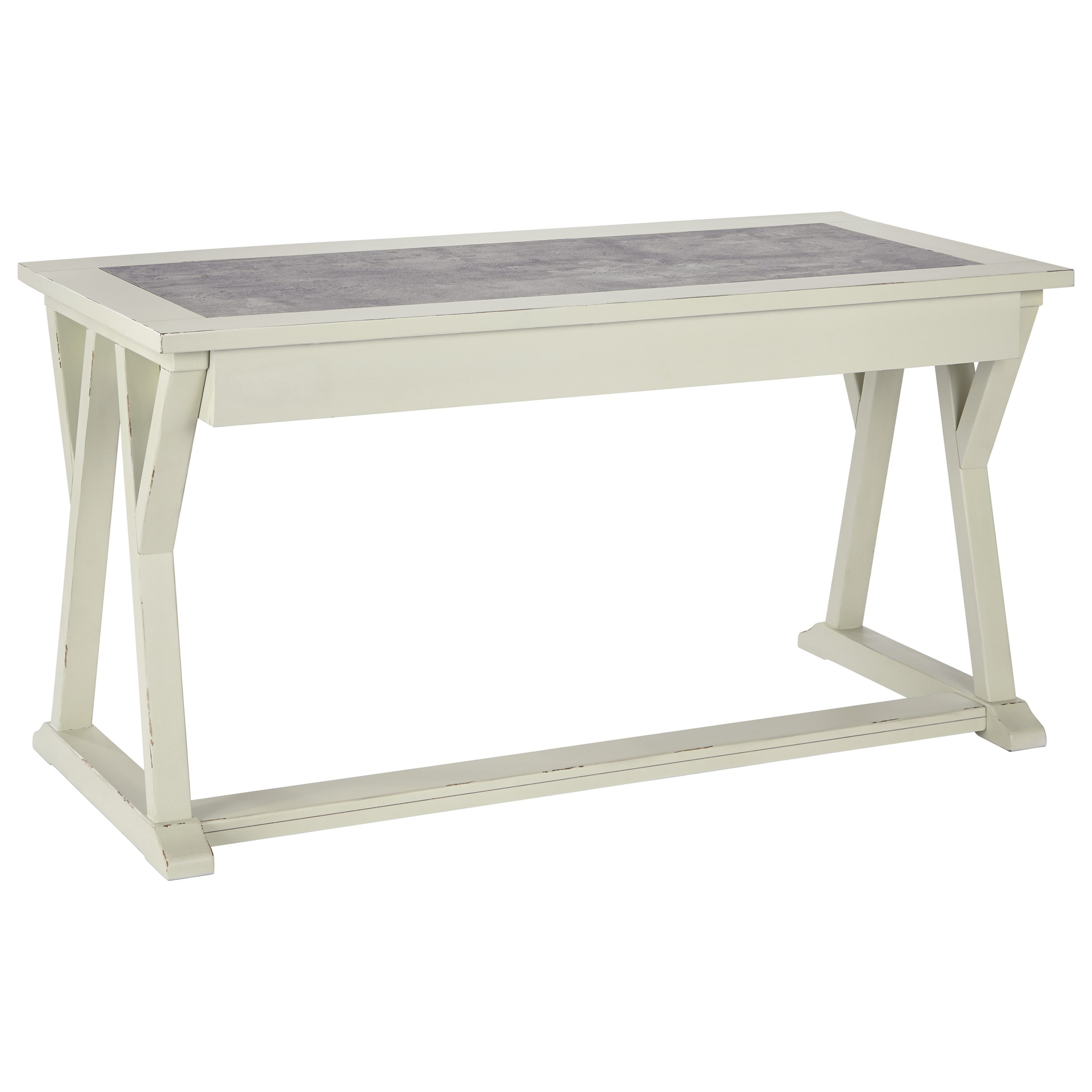 Jonileene Home Office Large Leg Desk by Signature Design by Ashley at VanDrie Home Furnishings