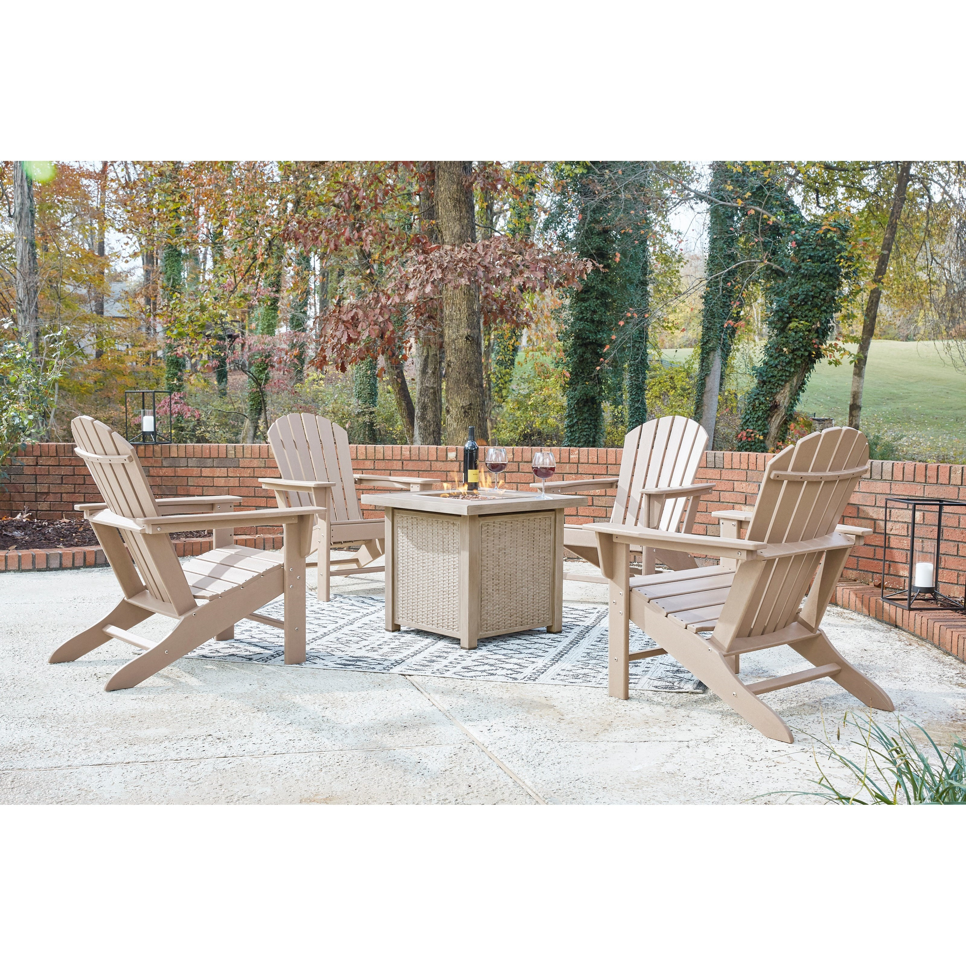 Lyle 5-Piece Square Fire Pit Set by Ashley (Signature Design) at Johnny Janosik