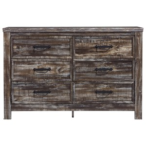 Rustic 6-Drawer Dresser