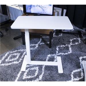 White Adjustable Height Home Office Side Desk