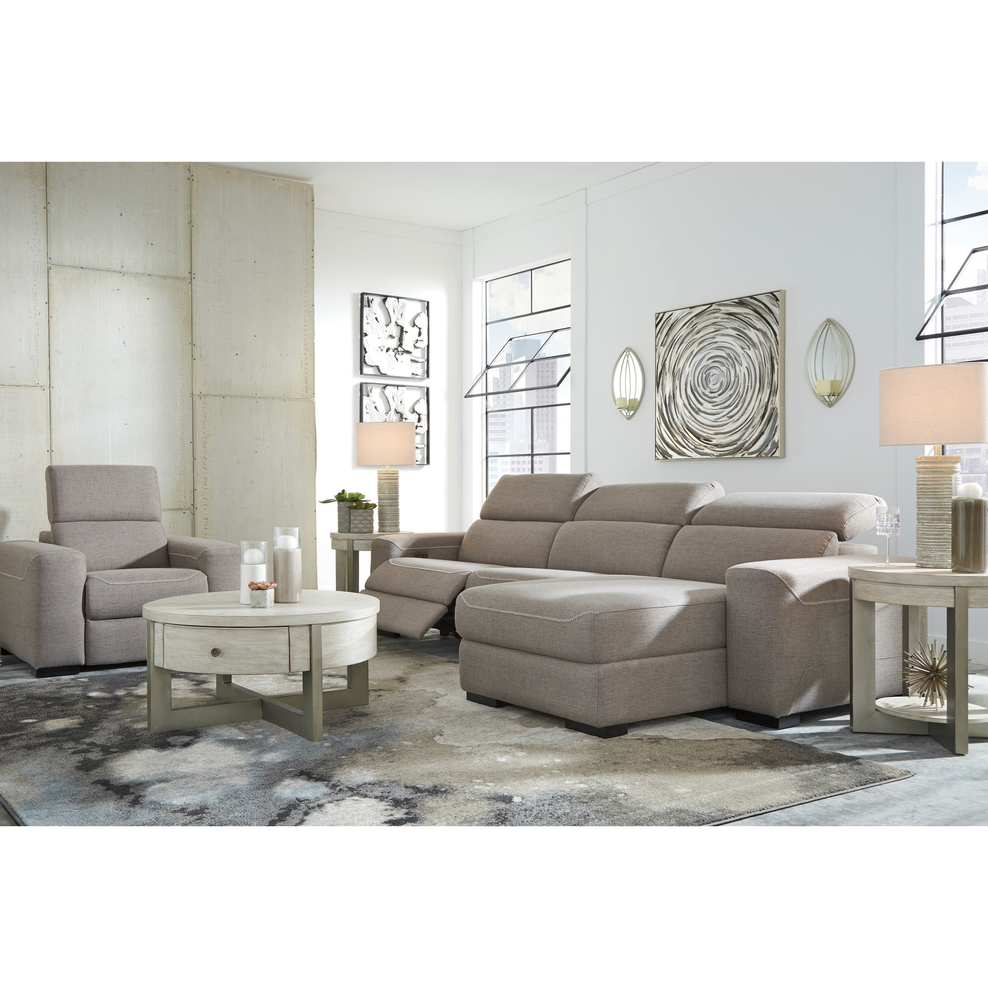 Mabton Power Reclining Living Room Group by Signature Design by Ashley at Catalog Outlet