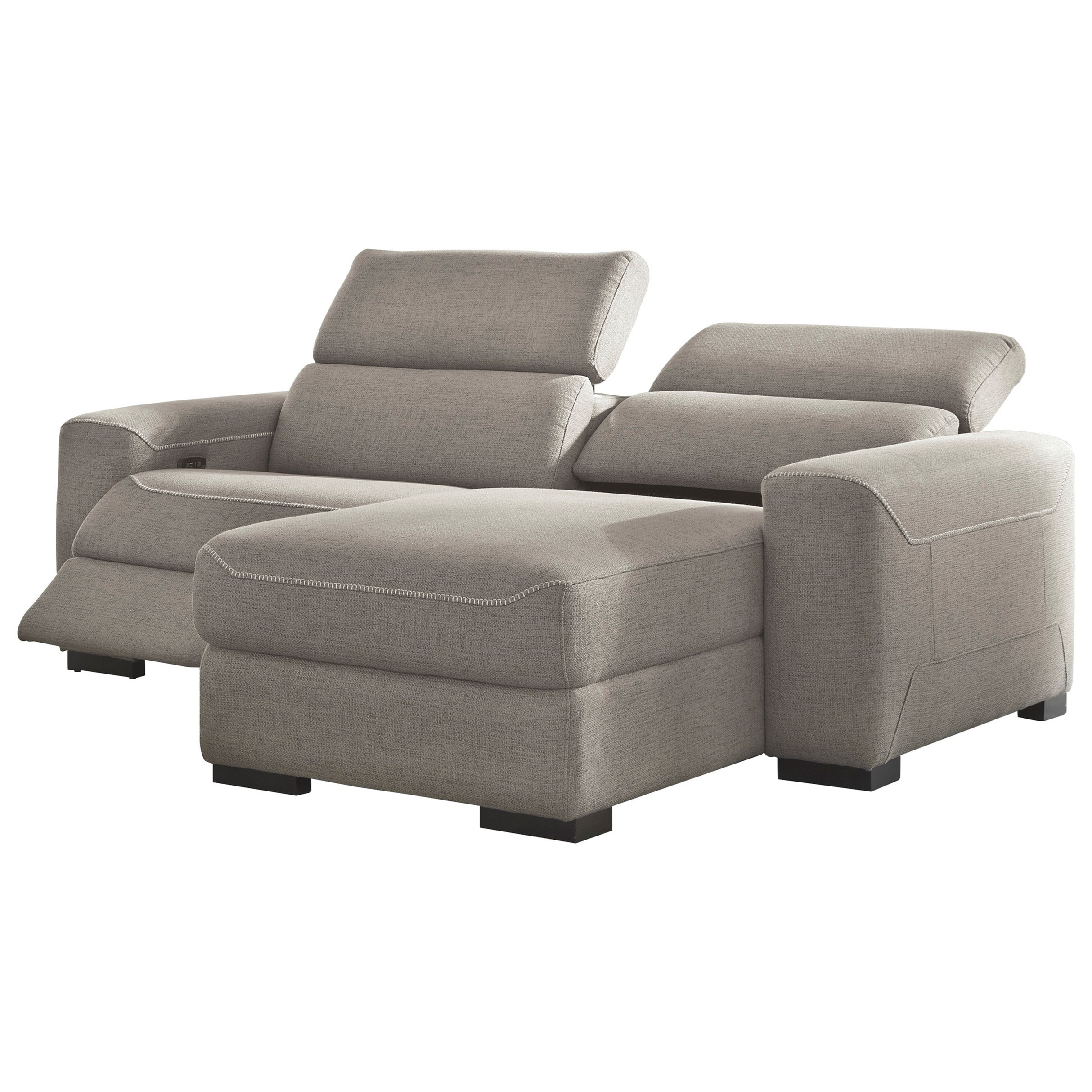 Mabton 2-Piece Power Reclining Sectional w/ Chaise by Signature Design by Ashley at A1 Furniture & Mattress