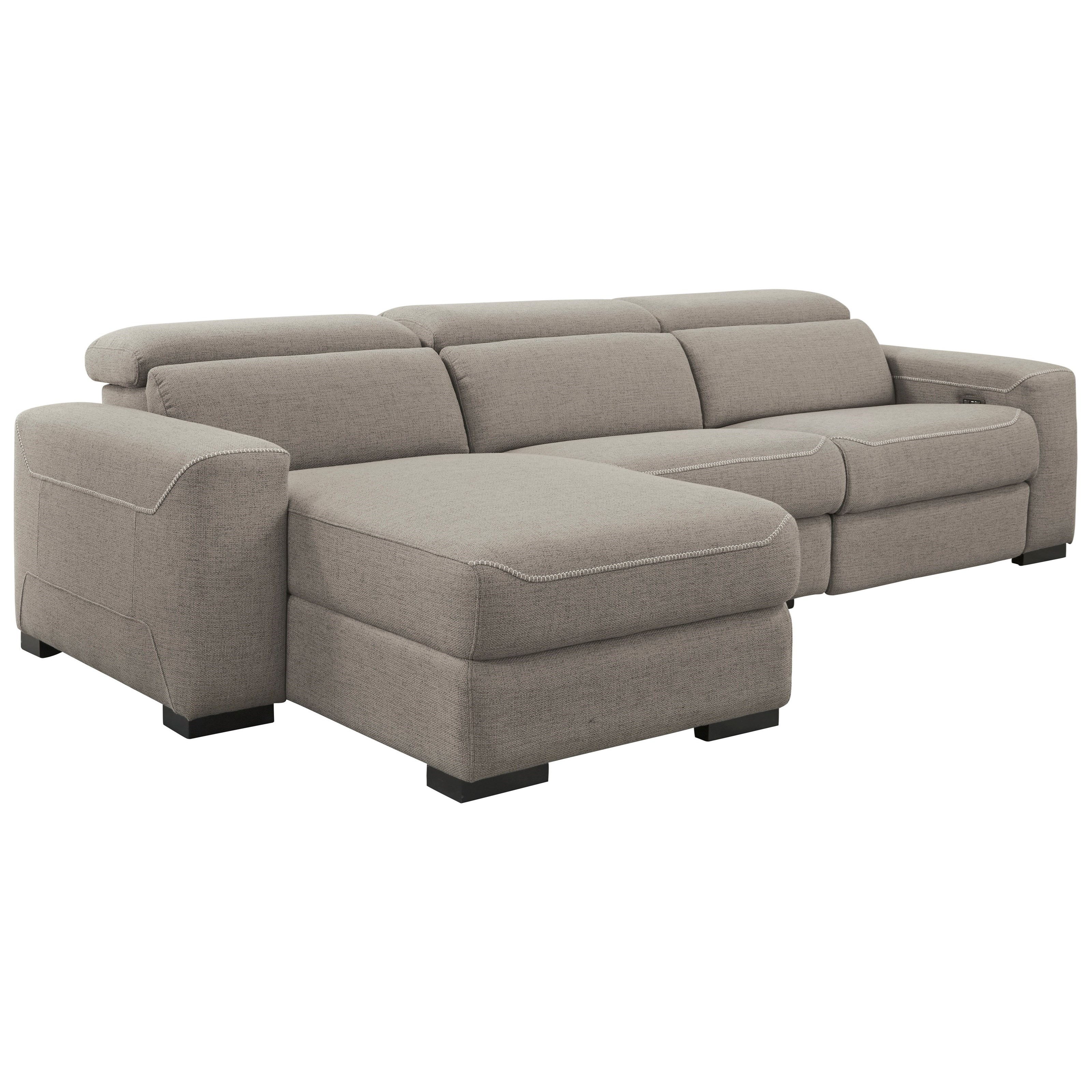 Mabton 3-Piece Power Reclining Sectional w/ Chaise by Signature Design by Ashley at Beck's Furniture