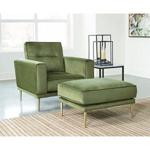 Modern Chair and Ottoman Set