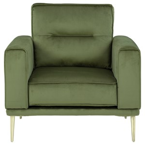 Modern Chair with Metal Legs