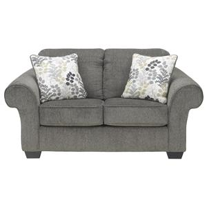 Signature Design by Ashley Makonnen - Charcoal Loveseat