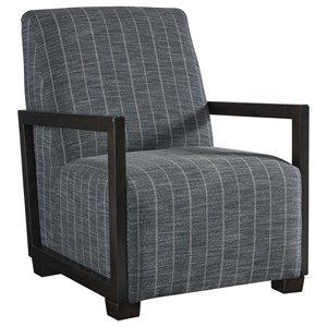 Contemporary Pinstripe Accent Chair