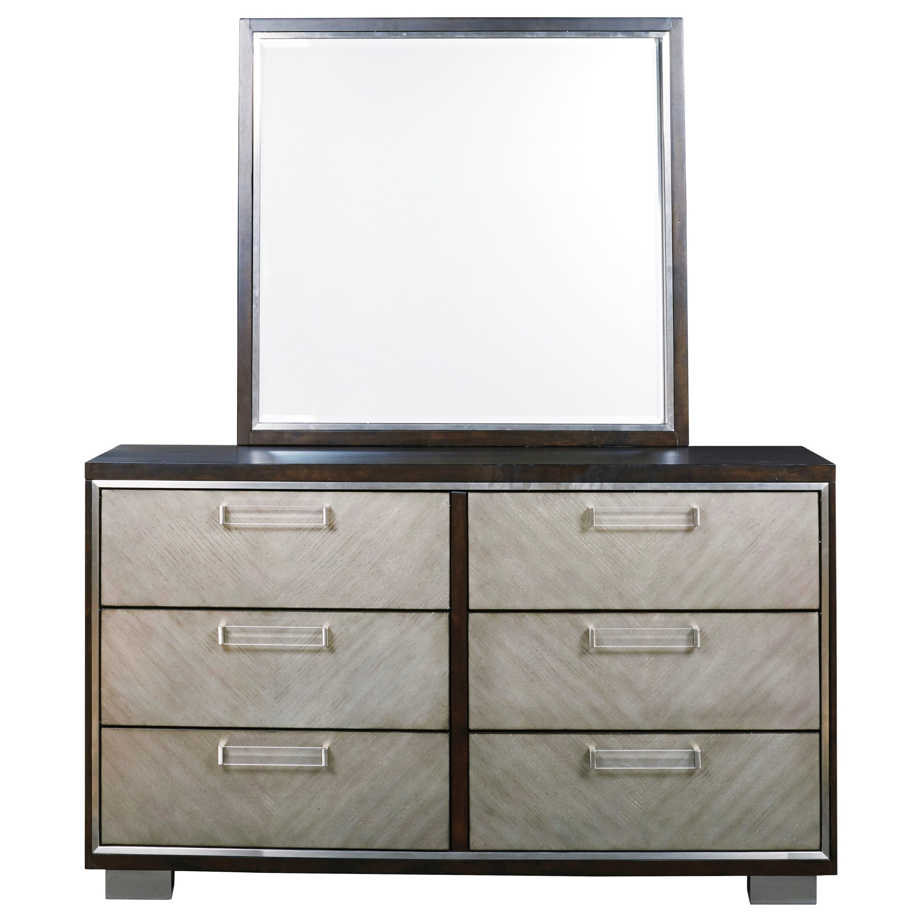 Maretto Dresser and Mirror Set by Signature Design by Ashley at Household Furniture
