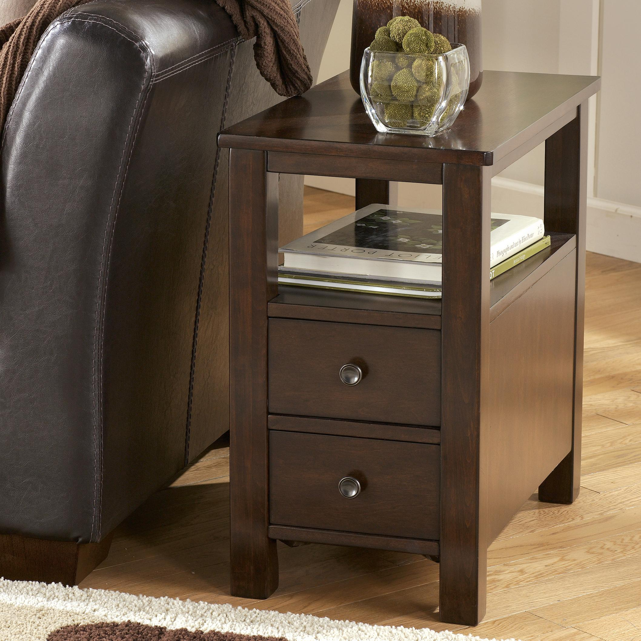 Marion Chairside Cabinet Table by Signature Design by Ashley at Beck's Furniture