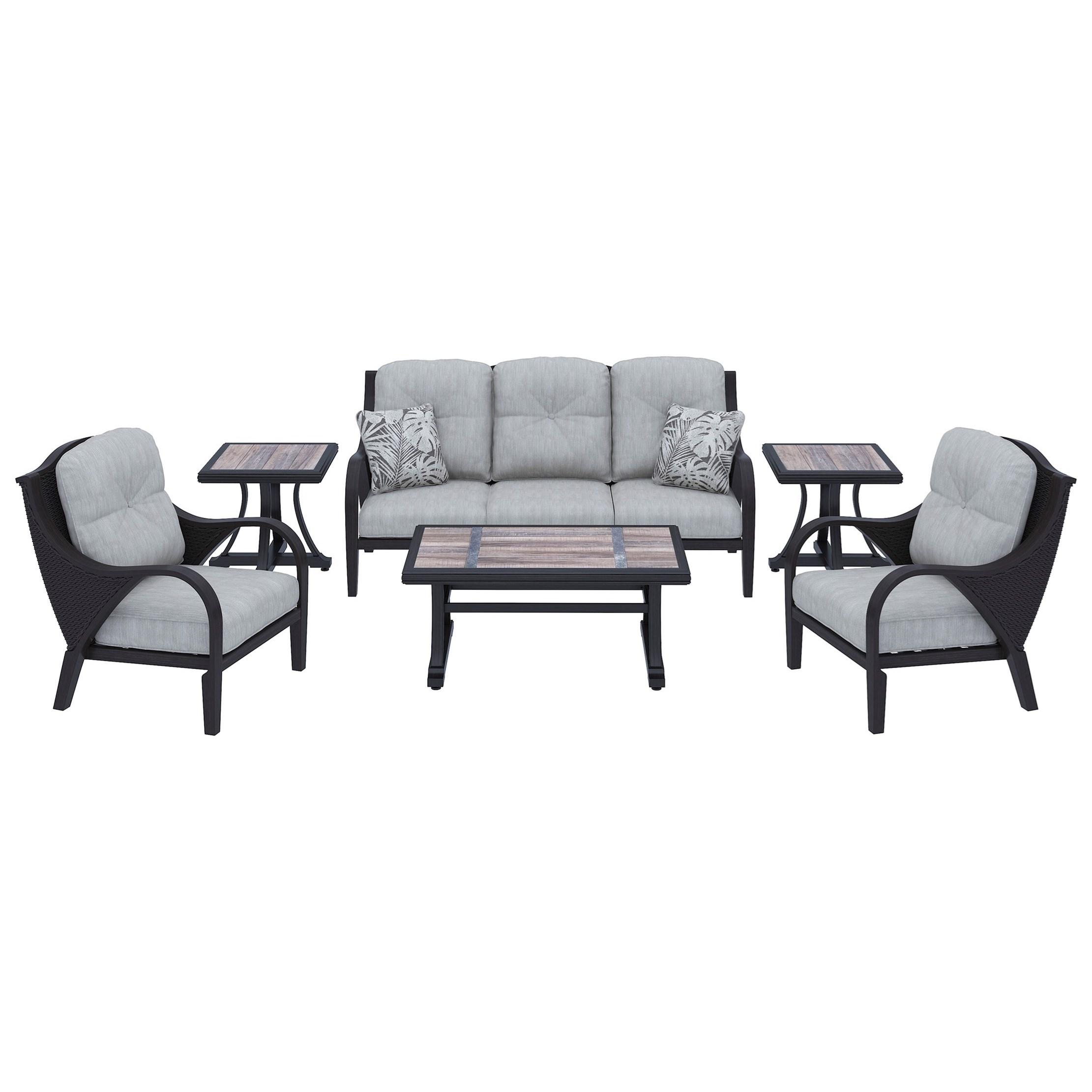 Marsh Creek Outdoor Conversation Set by Signature Design by Ashley at Lapeer Furniture & Mattress Center