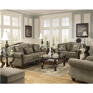 Signature Design by Ashley Furniture Martinsburg - Meadow Stationary Living Room Group