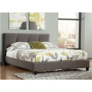 King Upholstered Platform Bed with Channel Tufted Headboard