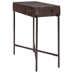 Industrial Accent Table with USB Ports and Outlets
