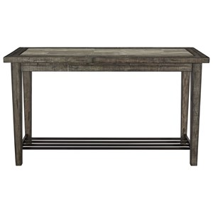 Rustic Sofa Table with Ceramic Tile Top