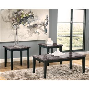 Faux Marble Top 3-Piece Occasional Table Set