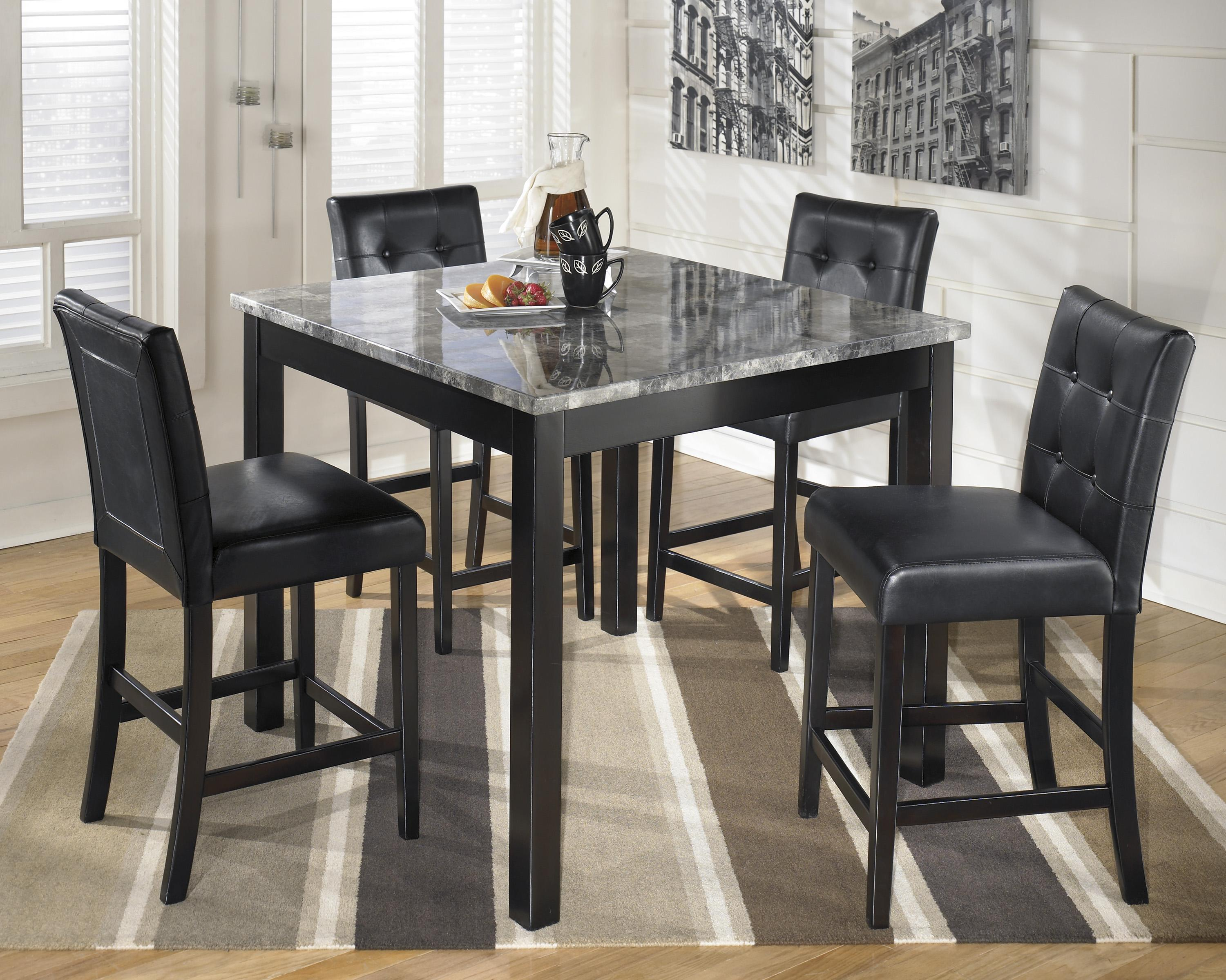 Maysville Square Counter Table Set by Ashley (Signature Design) at Johnny Janosik
