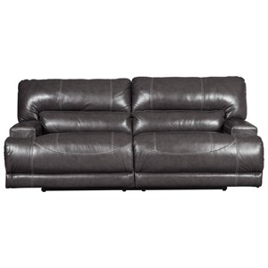 Contemporary Leather Match 2-Seat Reclining Sofa