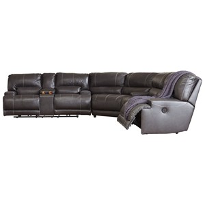 Contemporary 3-Piece Leather Match Reclining Sectional