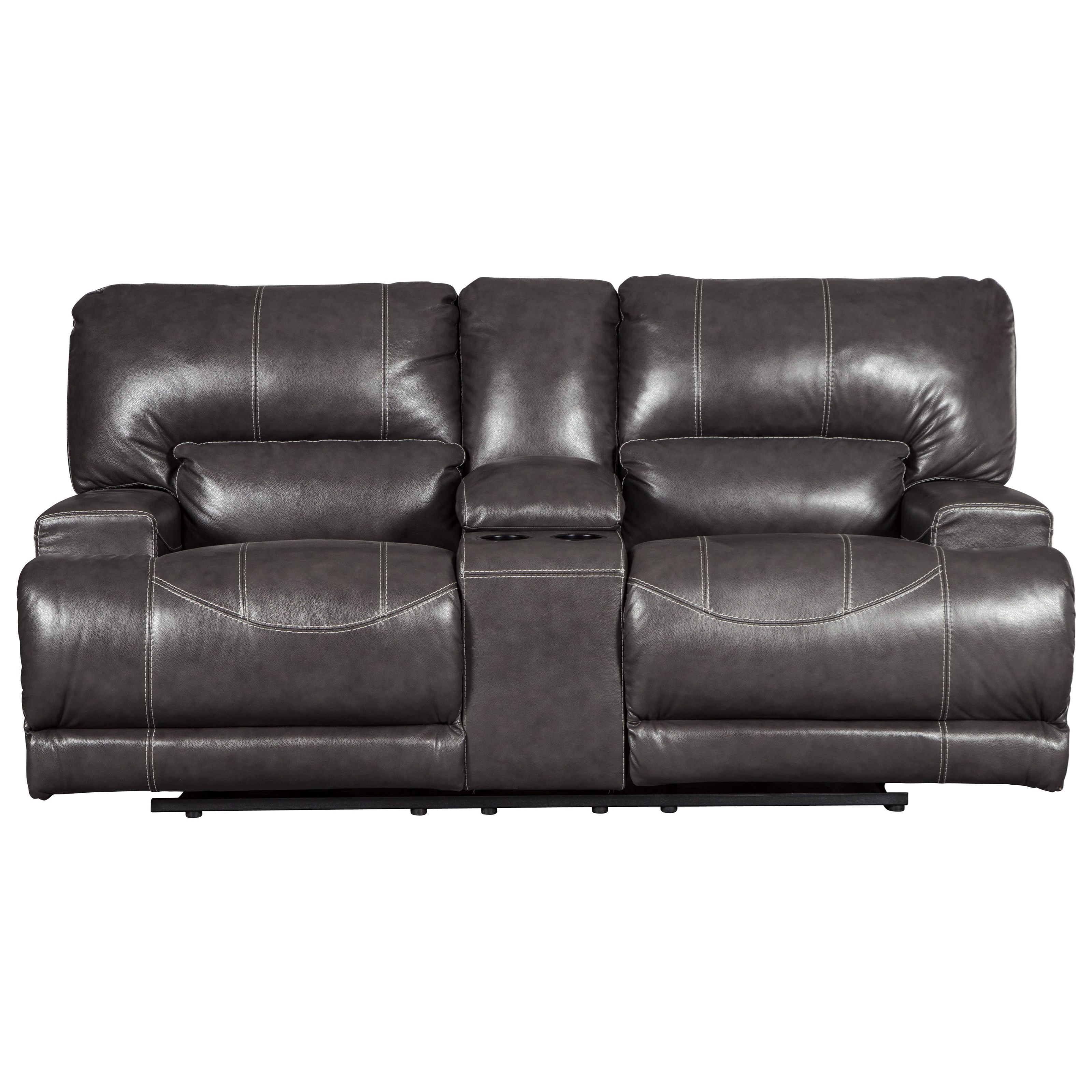 McCaskill Double Reclining Power Loveseat w/ Console by Ashley (Signature Design) at Johnny Janosik