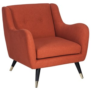 Mid-Century Accent Chair with Canted Legs