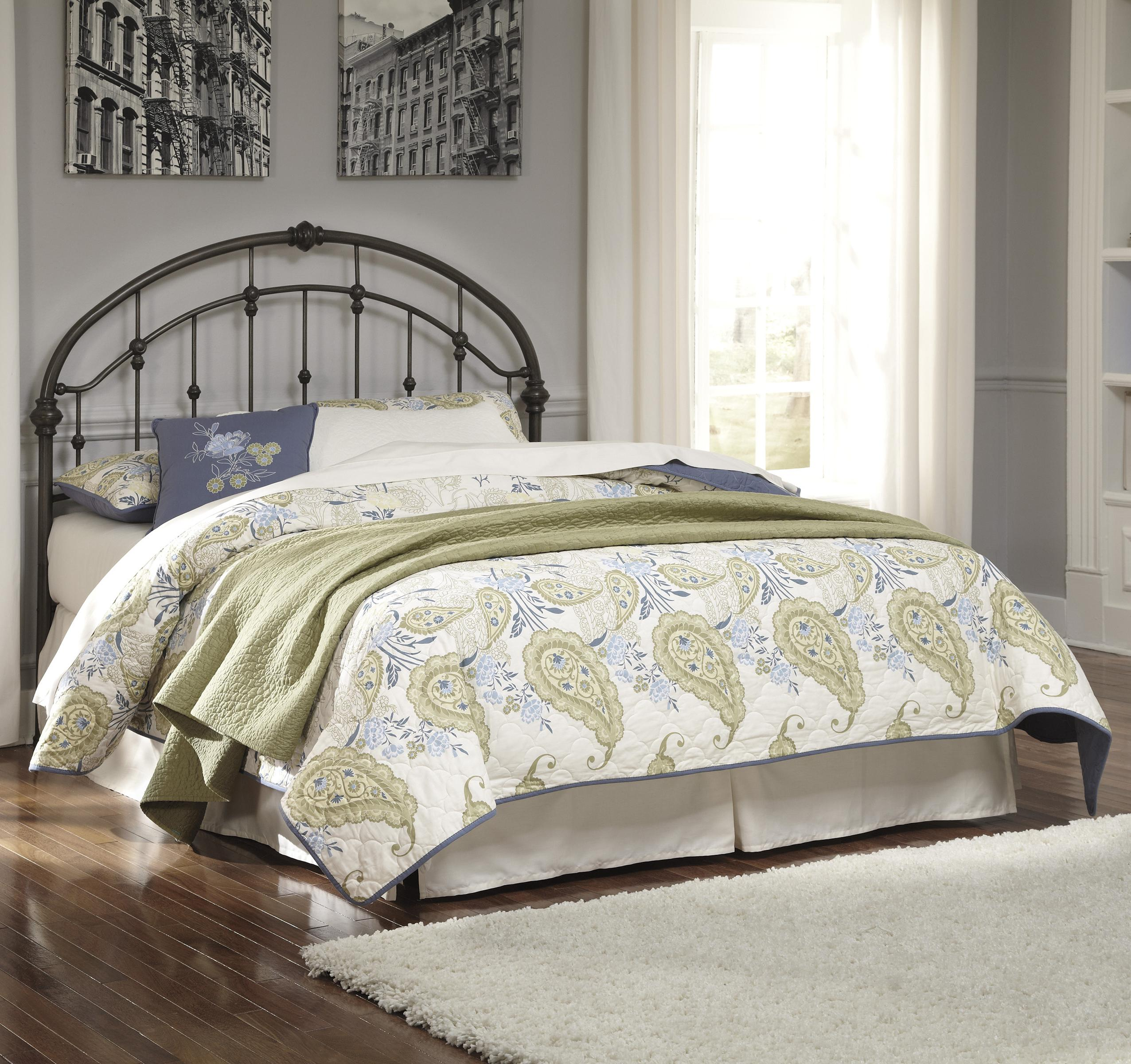 Nashburg Queen Metal Headboard by Signature Design by Ashley at Northeast Factory Direct