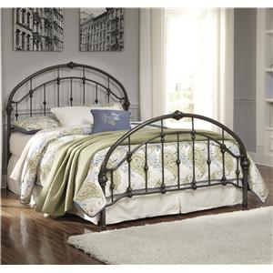 Queen Arched Metal Bed in Bronze Color Finish
