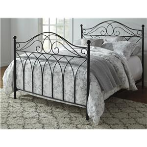 Signature Design by Ashley Nashburg Queen Metal Bed in Black Powder Coat Finish