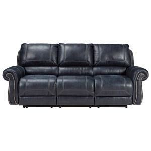 Signature Design by Ashley Milhaven Reclining Power Sofa