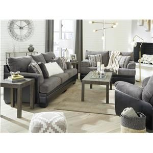 Smoke Sofa, Loveseat and Recliner Set