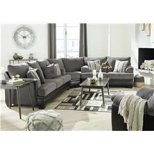 Smoke 3 PC Sectional and Recliner Set