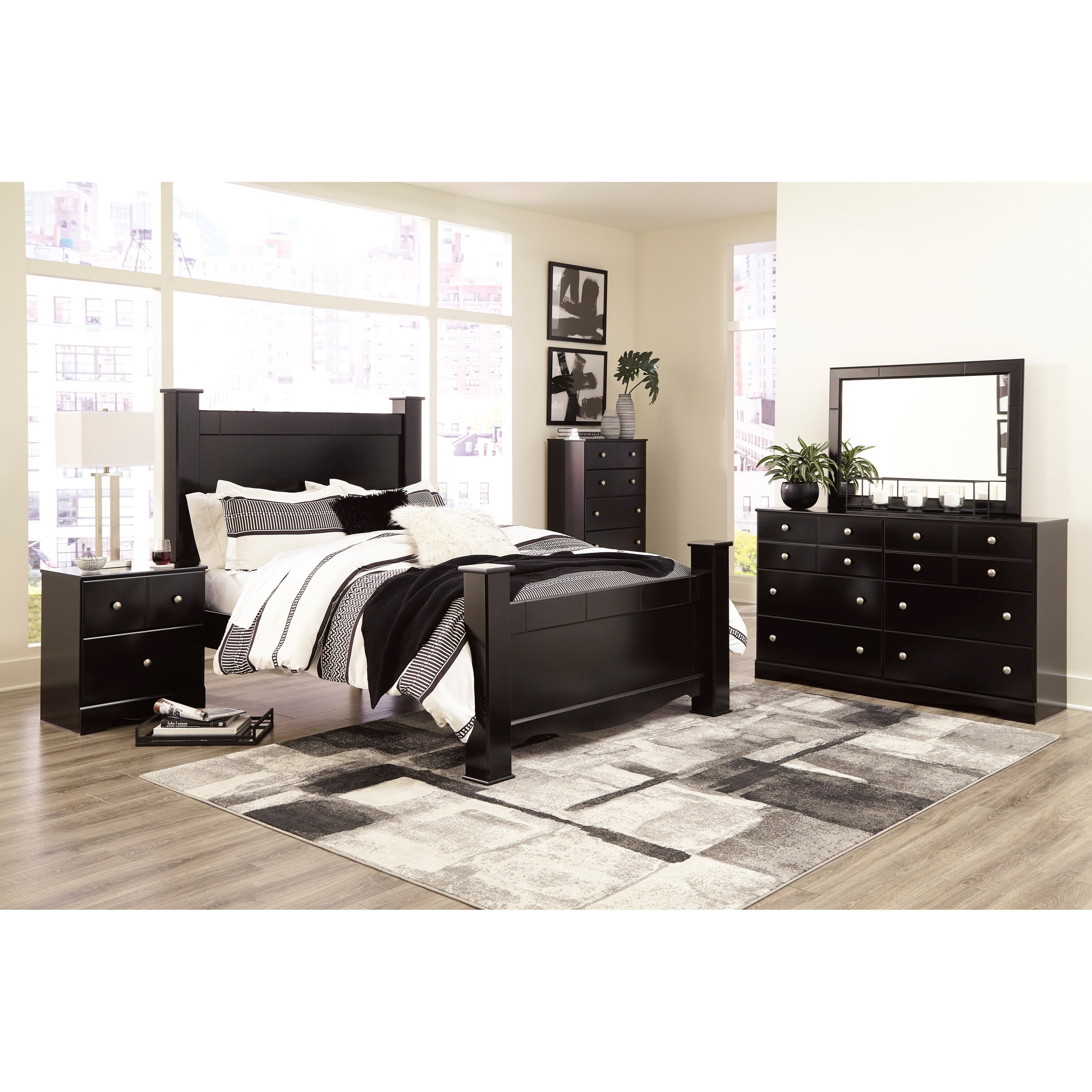 Mirlotown Queen Poster Bedroom Group by Signature Design by Ashley at Northeast Factory Direct