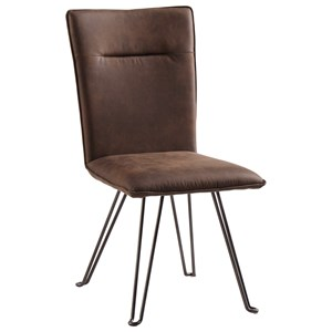 Dining Upholstered Side Chair with Metal Hairpin Legs