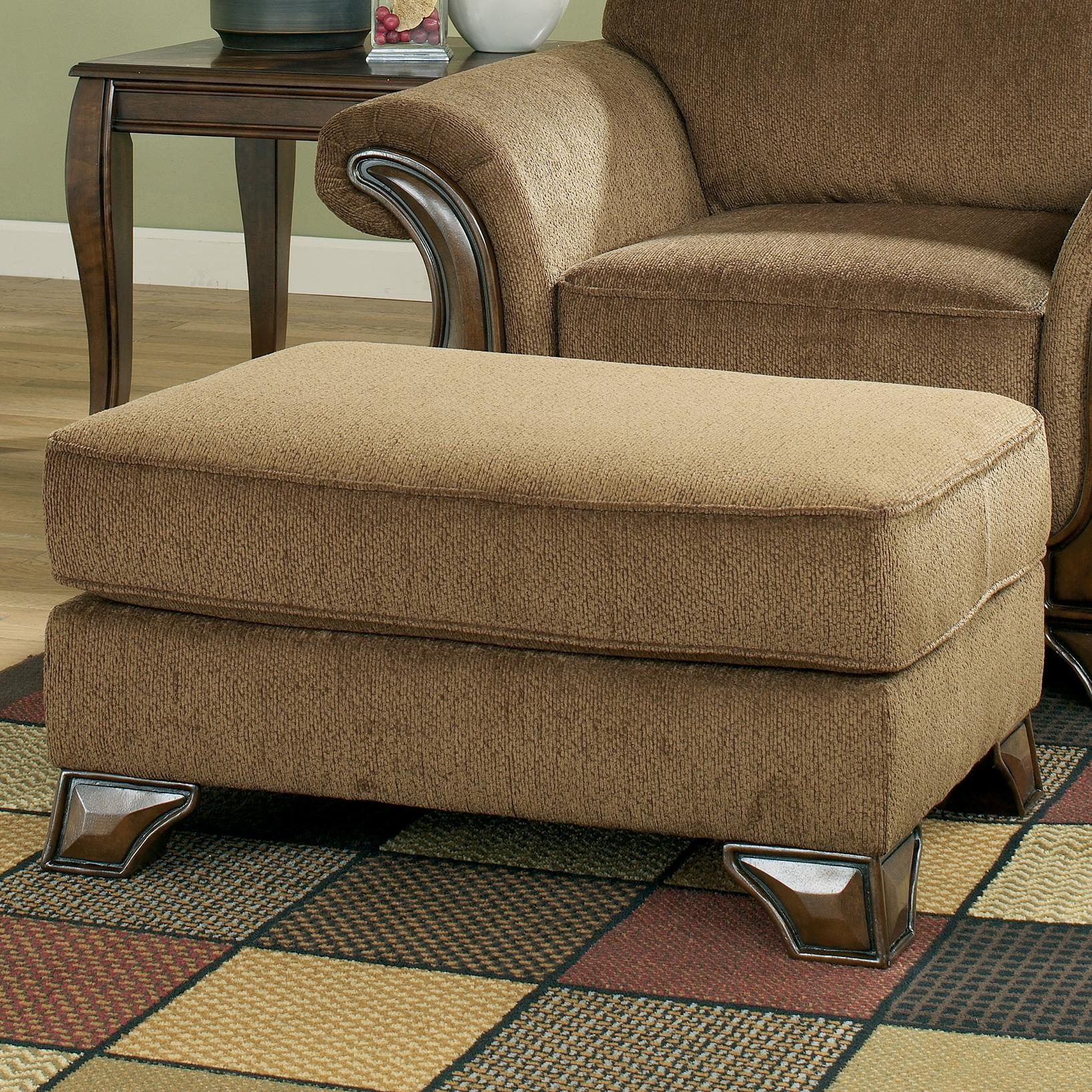 Montgomery - Mocha Ottoman by Signature Design by Ashley at Lapeer Furniture & Mattress Center