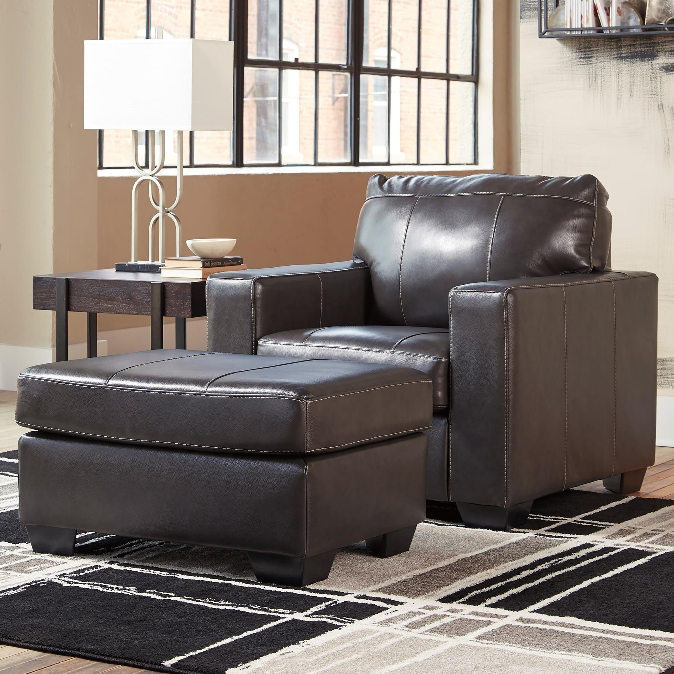 Morelos Chair & Ottoman by Ashley (Signature Design) at Johnny Janosik