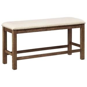 Counter Height Double Upholstered Bench