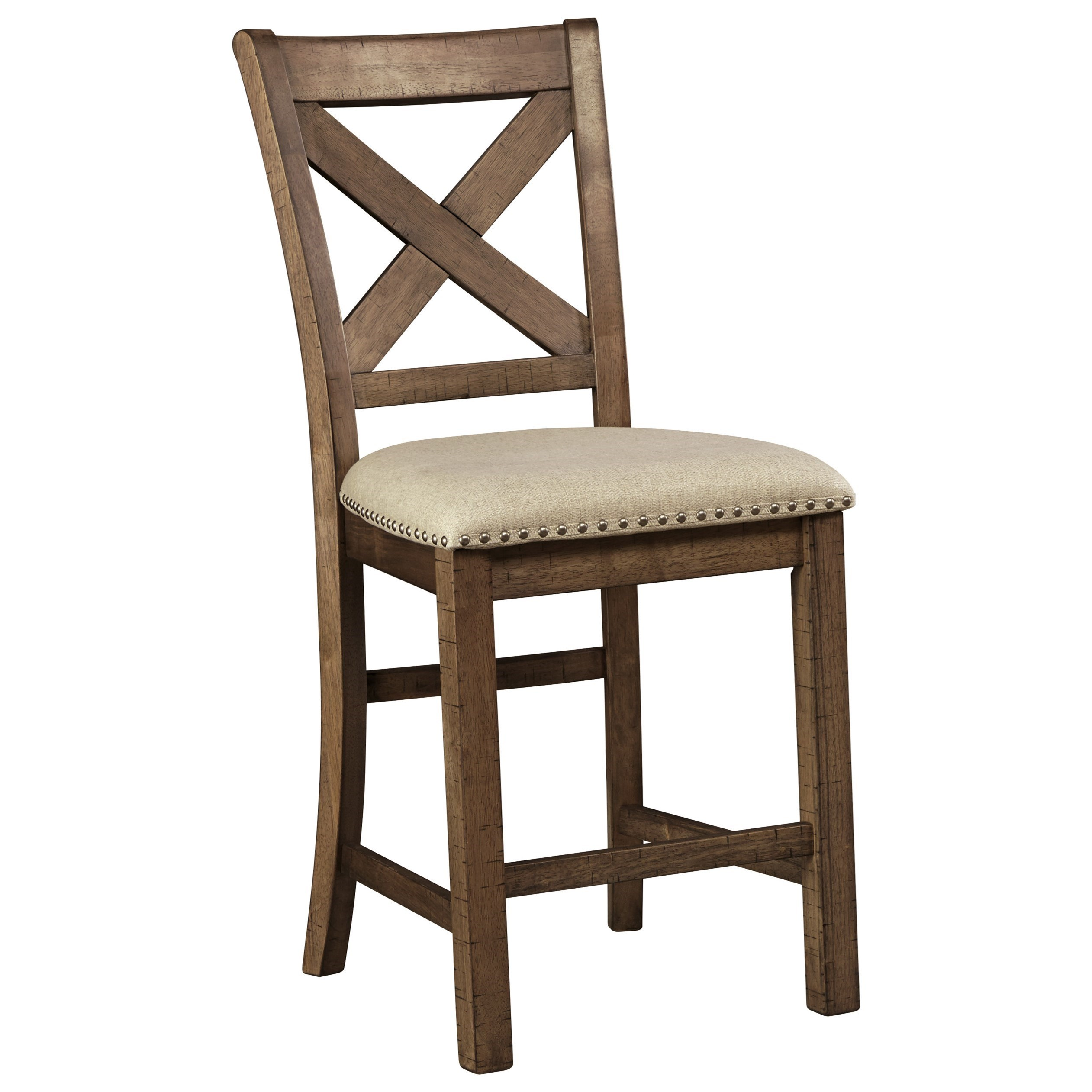 Moriville Upholstered Barstool by Signature Design by Ashley at Beck's Furniture