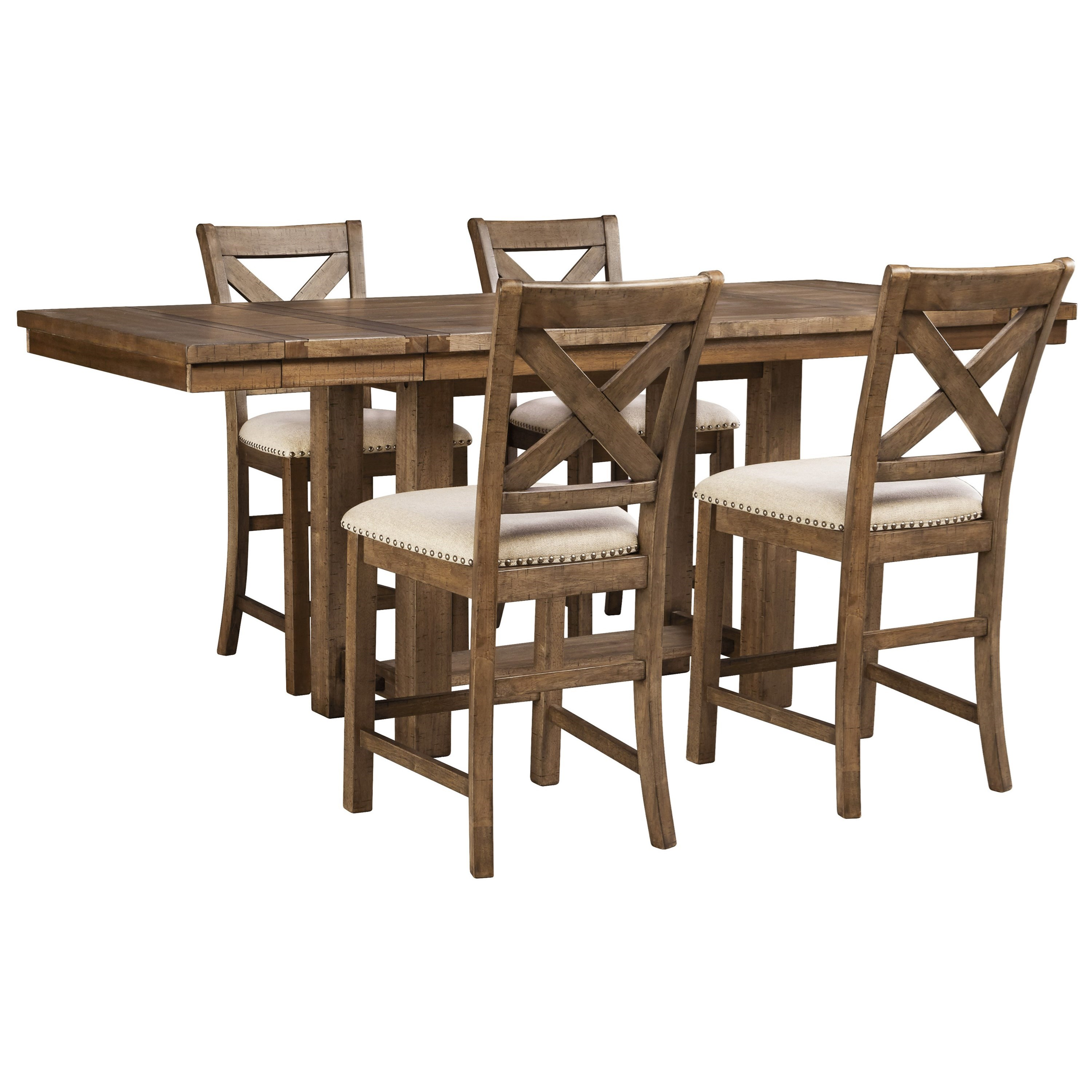 Moriville 5-Piece Dining Set by Signature Design by Ashley at HomeWorld Furniture
