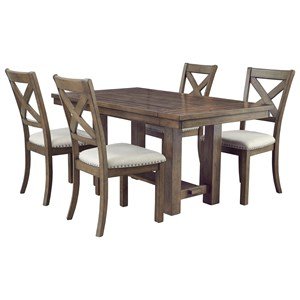 5-Piece Rectangular Extension Table and Chair Set