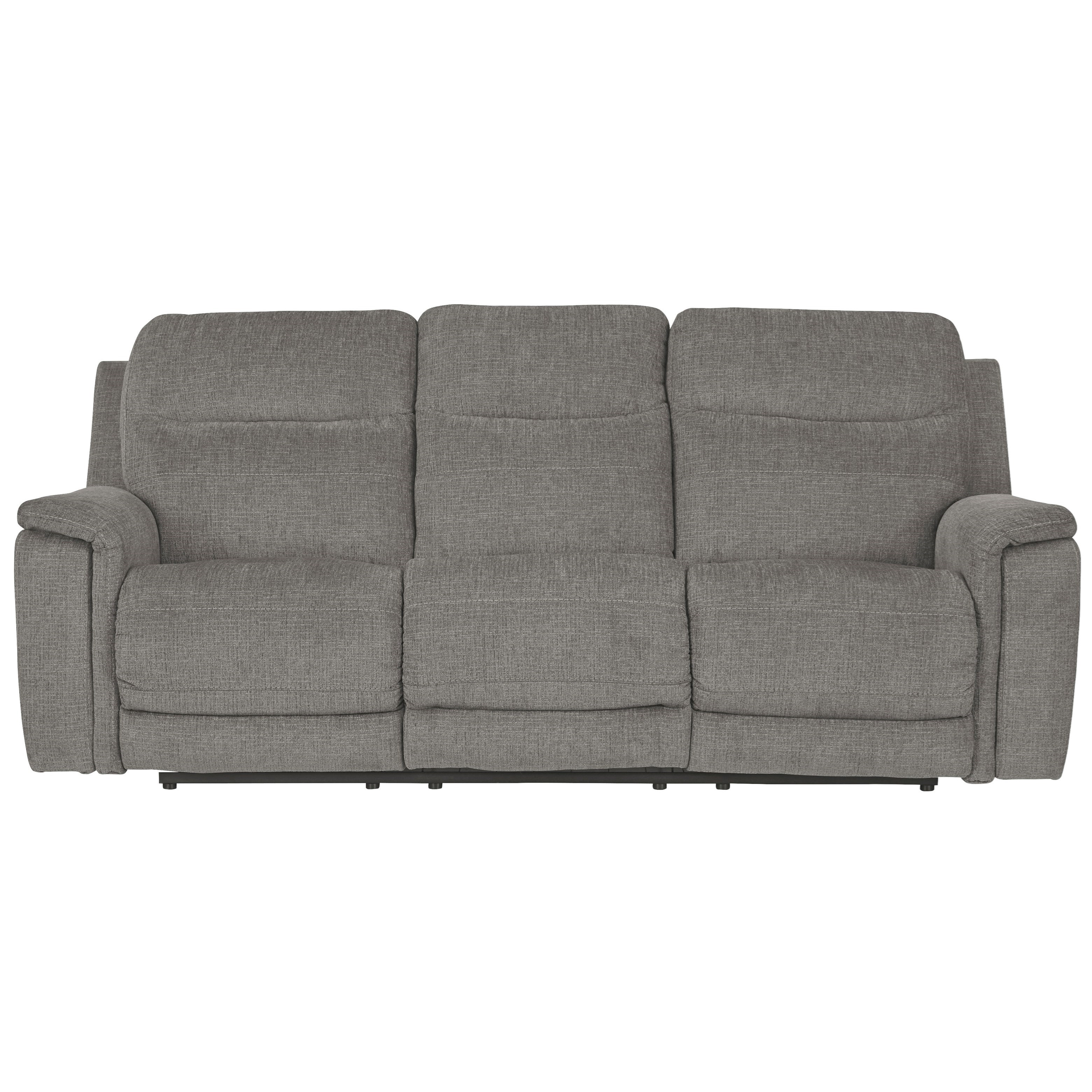 Mouttrie Power Reclining Sofa w/ Adjustable Headrests by Ashley (Signature Design) at Johnny Janosik