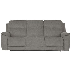 Contemporary Power Reclining Sofa w/ Adjustable Headrests and USB Charging