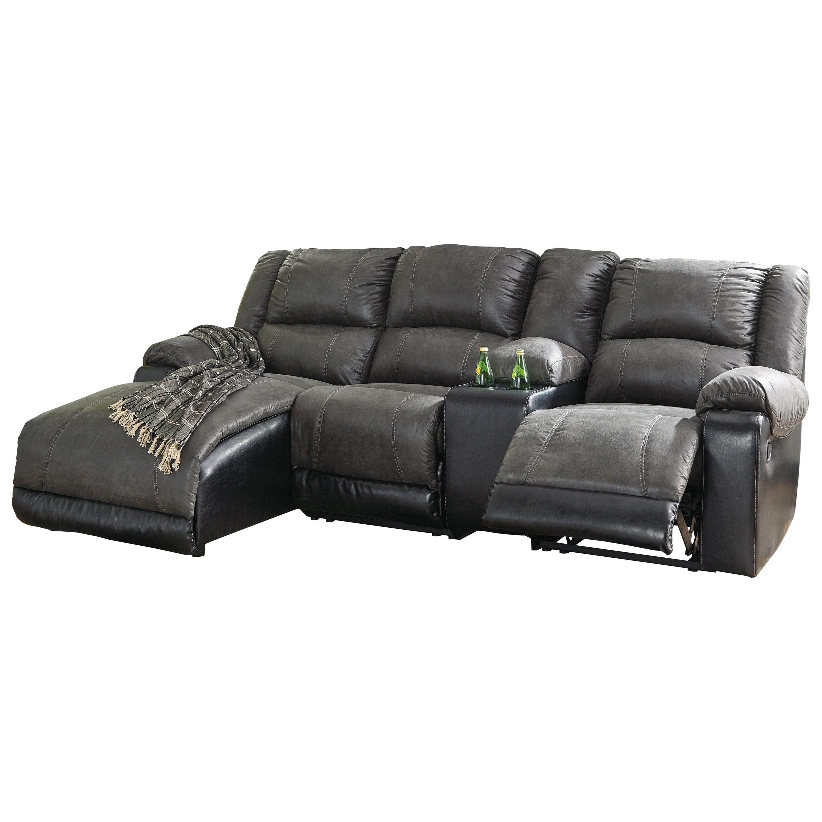 Nantahala Reclining Chaise Sofa by Signature Design by Ashley at Furniture Barn